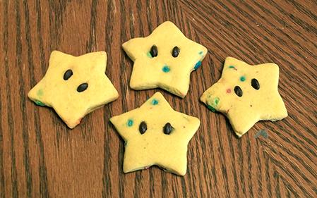 April Sugar Cookies - Mario Stars