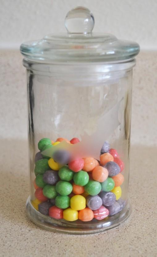 Bat-sign candy jar