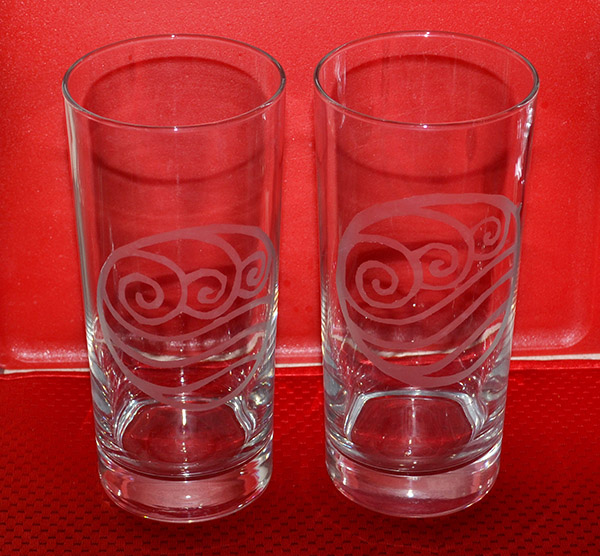 Glass Etch - Water Tribe glasses