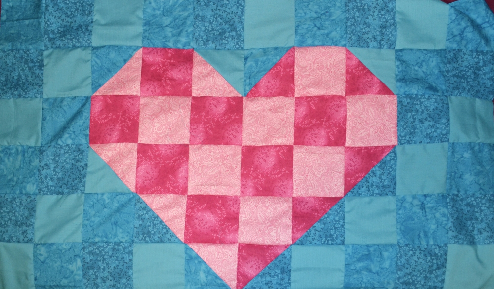 Heart Quilt day 2