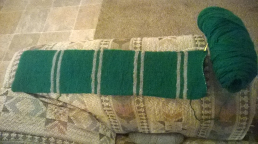 Slytherin Scarf, day 8