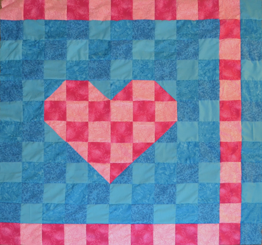 Heart Quilt day 34