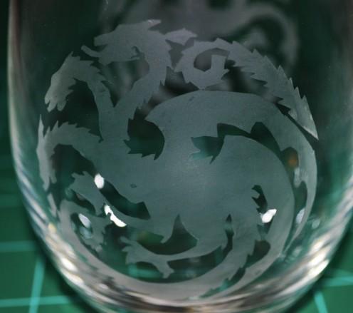 Sigil Targgaryen glass