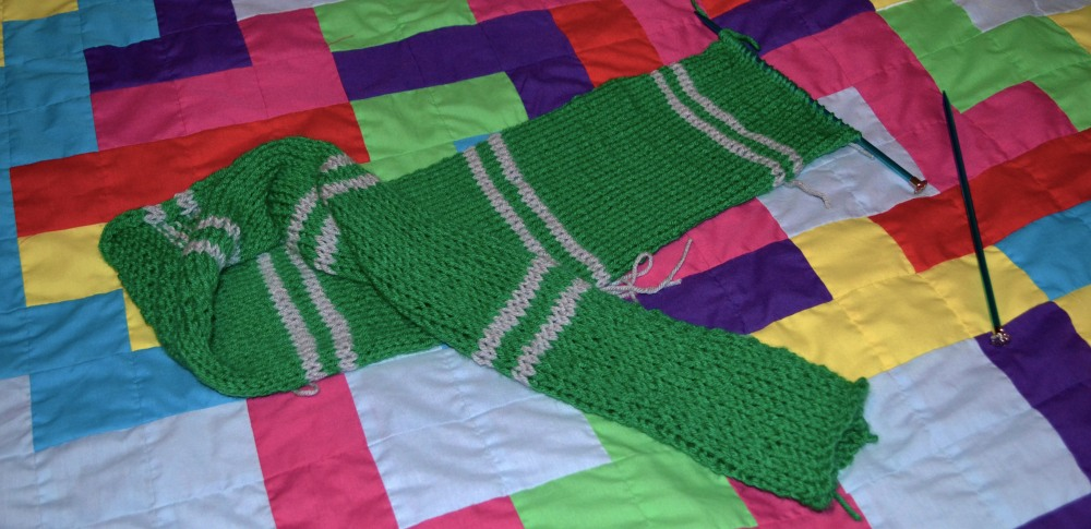 Slytherin Spring scarf day 16