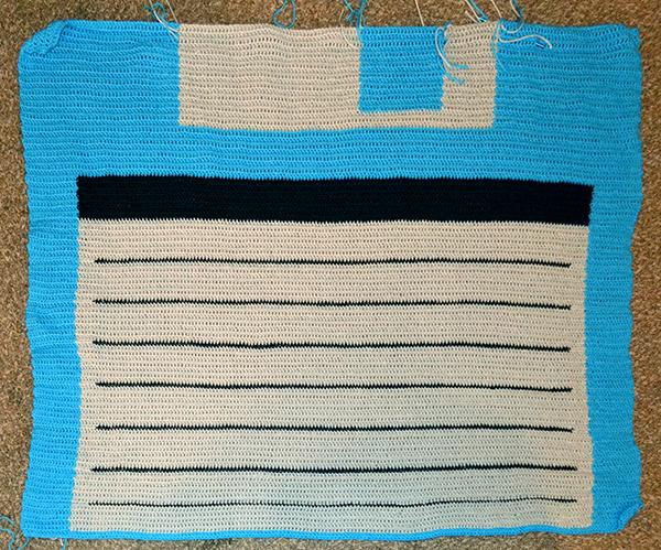 Floppy Disk blanket, day 4