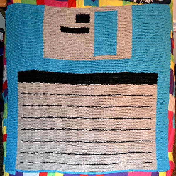 Floppy Disk blanket, day 7 (complete)