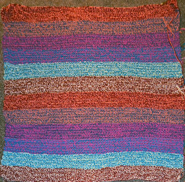 Quilt-Match afghan, day 6