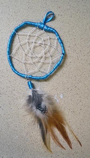 Christmas Crafts dreamcatcher blue