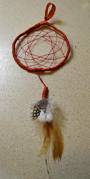 Christmas Crafts dreamcatcher red