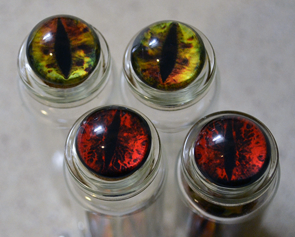 Christmas Crafts eye jars