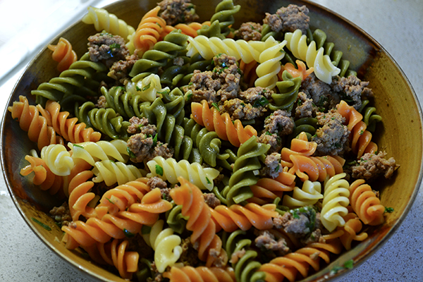 Beef & Veggie Pasta
