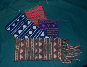Pattern knit bags